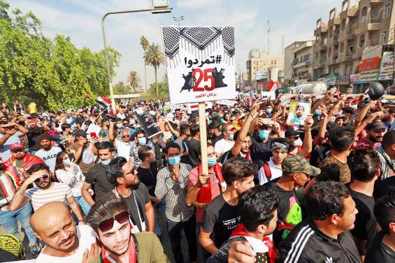 Des milliers d'Irakiens marquent le 1er anniversaire de leur révolte