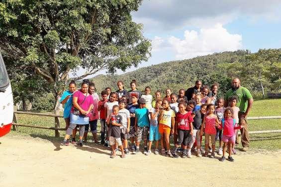 Souvenir de vacances pour les enfants de la commune