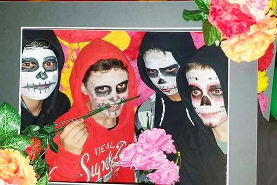 Les 6e et 5e du collège célèbrent la fête des morts