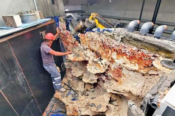 Suivi des travaux à l'Aquarium :  deux bacs ont été démolis en octobre