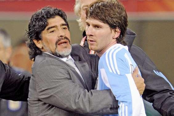 Maradona et Messi, les étoiles contraires
