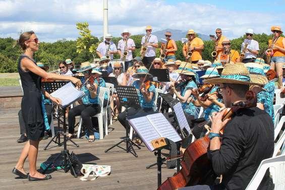 Pause musicale au parc de Sainte-Marie