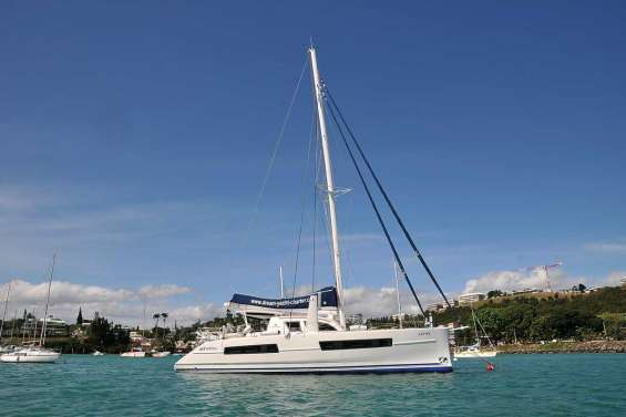 Les catamarans Catana à flot en Calédonie