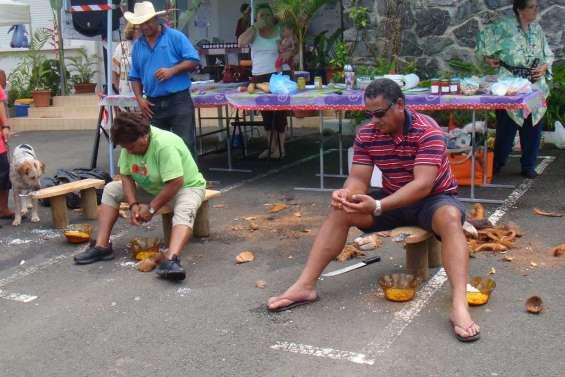Le marché fête la coco