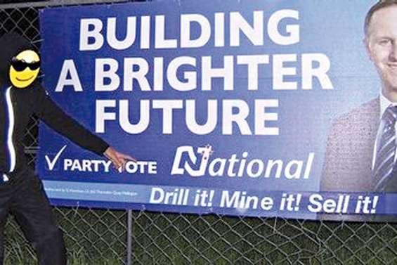 La campagne électorale salie