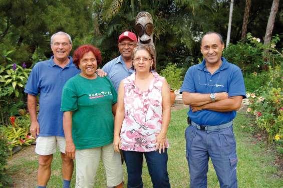 Les descendants d'Okinawa dans leur maison