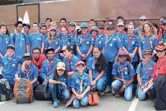 Scouts et guides au Jamboree australien