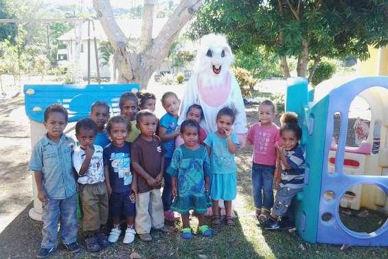 Un lapin à la maternelle