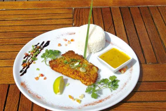 Perroquet pané curry-coco