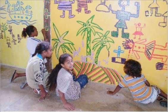 Cours d'histoire sur mur