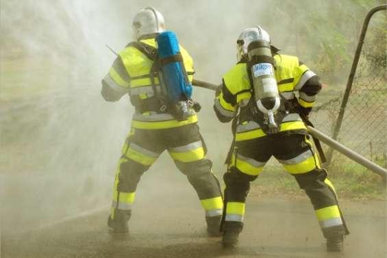 Les pompiers en piste