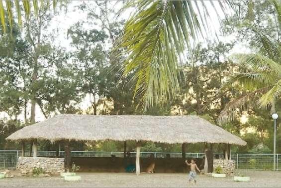 Le faré de l'école a un toit tout neuf