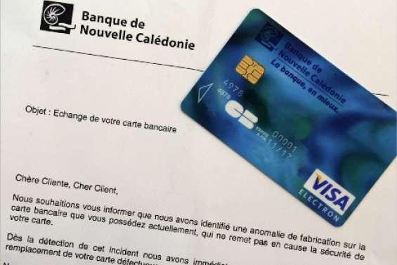 Cartes bancaires défectueuses