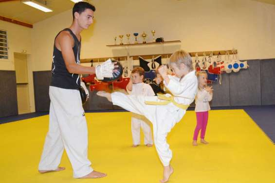 Le taekwondo en démonstration