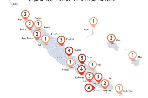 Canala, Païta… Où sont les tronçons les plus meurtriers