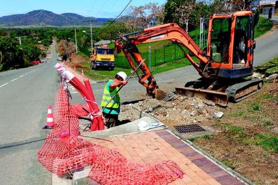 Une vaste opération d'enfouissement du réseau électrique