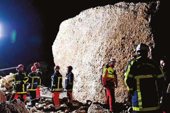 Aux Mées, un « miracle » sous des tonnes de roches
