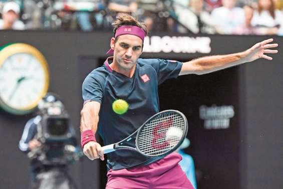 Roger Federer passe au pas de charge