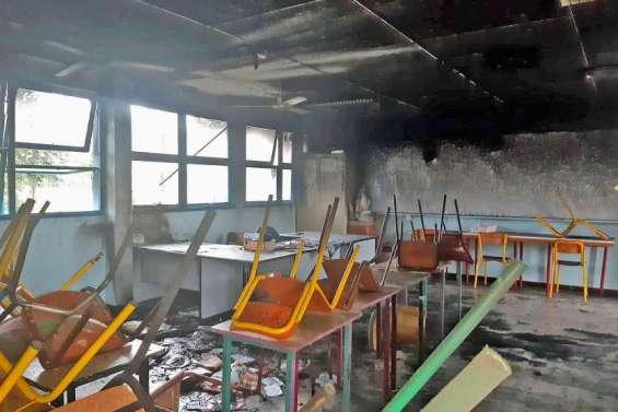 Incendie du Sacré-Coeur de Bourail : trois collégiens accusés d'être les incendiaires