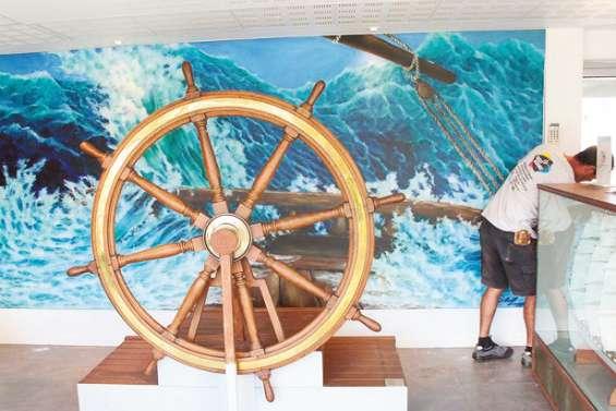 Un selfie dans la tempête au musée maritime