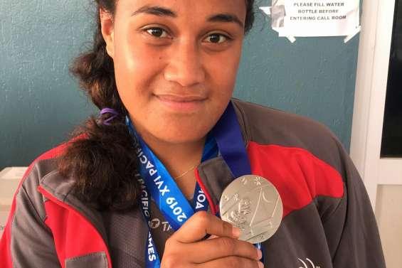 Jeux du Pacifique : Elise Takosi en argent au marteau, les Cagous font le plein d'or en athlétisme