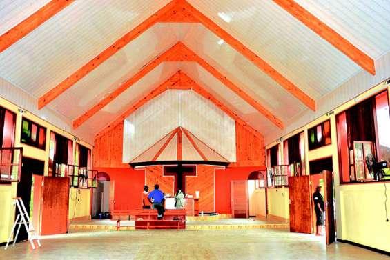 Les travaux de rénovation du temple de Wanap touchent à leur fin