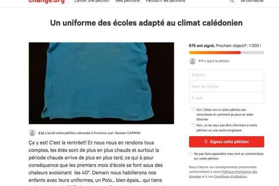Les tenues scolaires obligatoires au centre d'une pétition