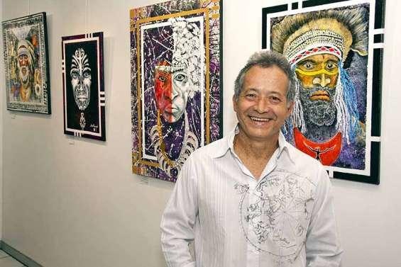Les toiles d'Aimé Nangard s'affichent sur les murs d'Arte Bello