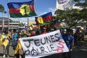 Les jeunes indépendantistes marchent pour le Oui
