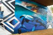 Une fresque géante sous l'échangeur de Koutio