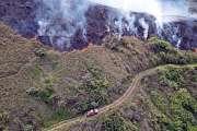 Un nouveau feu de brousse à Bourail