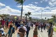 Un peu mois de 2 000 personnes, selon le haussariat, au rassemblement contre l'obligation vaccinale à Nouméa