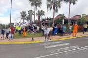 Débrayage de Solidarité NC à la mairie de La Foa