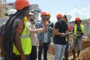 Des étudiants de Dumbéa à la découvertedu chantier de Kouéta-Baie