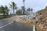 Dépression tropicale: un éboulement à la côte Blanche