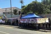 Usine du Sud: mobilisation devant la caserne Meunier pour dénoncer les