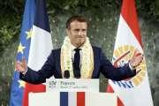 Emmanuel Macron le réaffirme depuis Papeete: