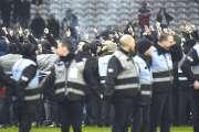 Des supporters de Lille sur le terrain