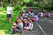 Les collégiens de Plum découvrent  la piste pour la journée du sport scolaire