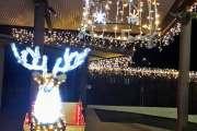 Le village illuminé pour la fin de l'année