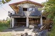 Une maison réduite en cendres à Magenta