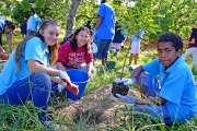 Les élèves du Sacré-Cœur au secours du Creek-Salé