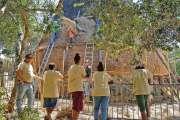 La grande case du centre Tjibaou fait peau neuve