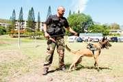 Wolf et l'adjudant Weiss, un duo cynophile à la compagnie de gendarmerie de Nouméa