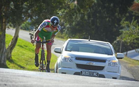 Katiramona, le 23 juillet. Florian Letocart, ici lors du championnat de Calédonie de contre-la-montre, a connu cette année sa première saison cycliste en Métropole, à Hyères.
