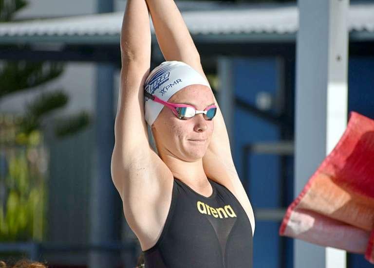 Lillie Freulon, 15 ans, nageuse à l'Insep :