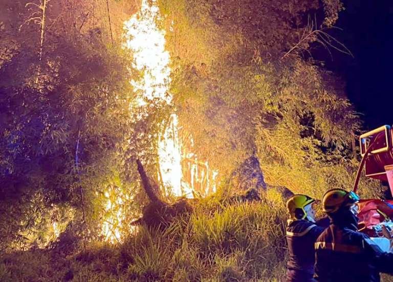Incendies à répétition à Bourail, les pompiers en ont ras le bol