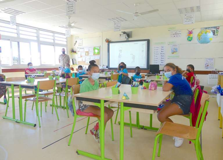 Cent des 139 enfants attendus ont fait leur rentrée à l'école Téari